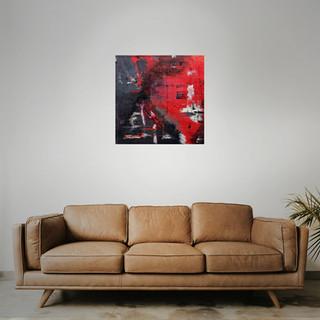 FOR SALE  #15 Mixed media: acrylic & oil   61cm x 61cm x 2cm £145