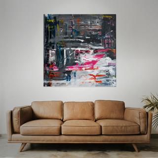 FOR SALE  #3  Mixed media: acrylic & oil  100cm x 100cm x 2cm £350