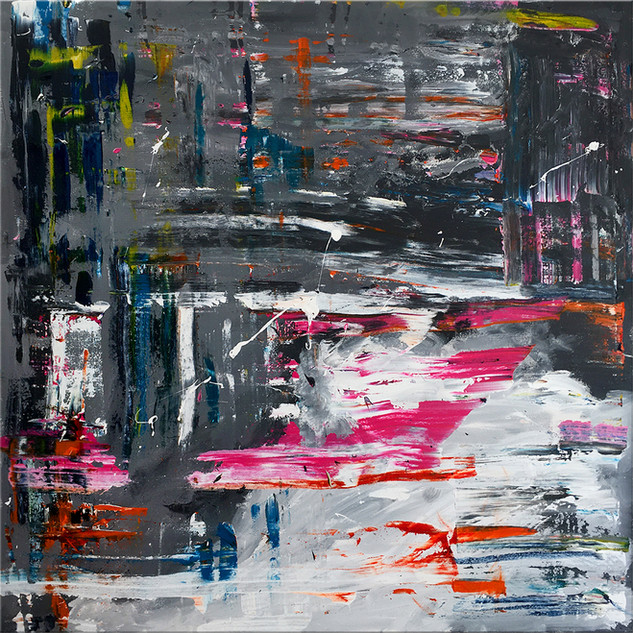 Mixed media: acrylic & oil #3  100cm x 100cm x 2cm £350
