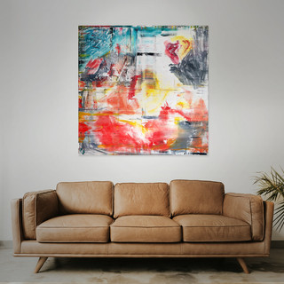 SOLD  #6  Mixed media: acrylic & oil 100cm x 100cm x 2cm £415