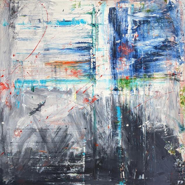 Mixed media: acrylic & oil #12  100cm x 100cm x 2cm £400