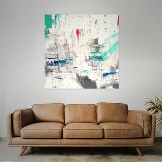 FOR SALE  #7 Mixed media: acrylic & oil  100cm x 100cm x 2cm £350