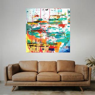SOLD  #10  Mixed media: acrylic & oil  100cm x 100cm x 2cm £275