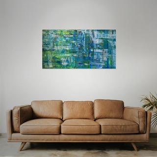 SOLD  #9 Mixed media: acrylic & oil   100cm x 50cm x 2cm £175