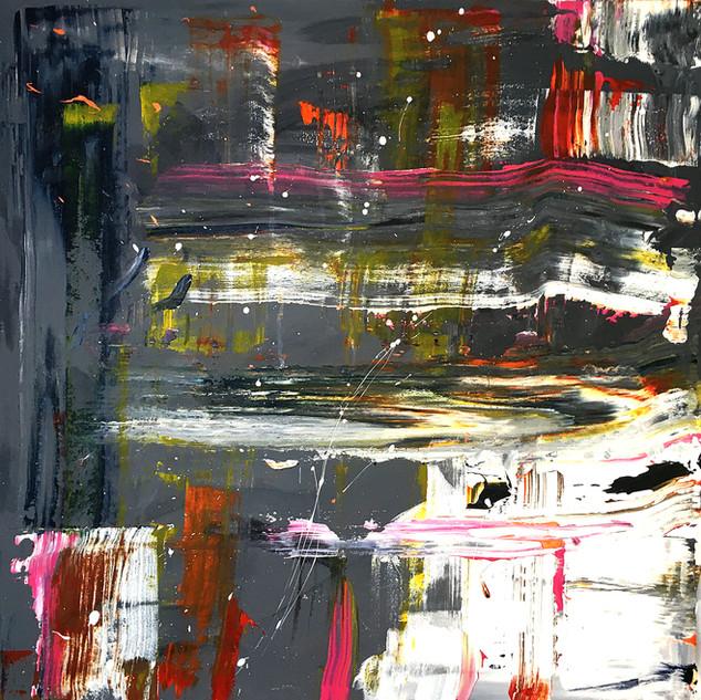 Mixed media: acrylic & oil #8  61cm x 61cm x 2cm £150