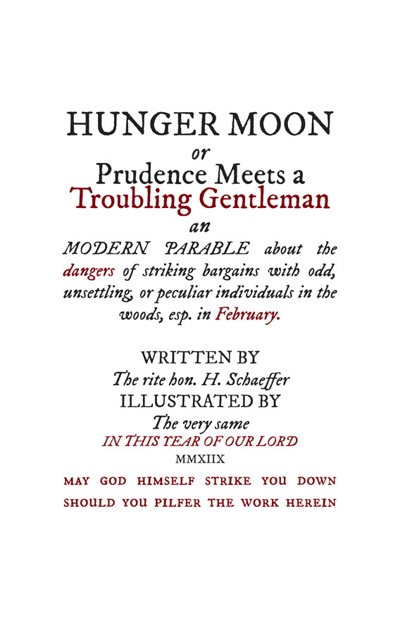 Hunger Moon Title Page