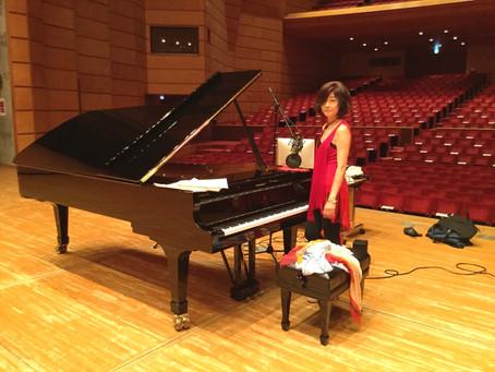 スタンウェイピアノ試奏会にて!〜Steinway trial session at Edogawa Sogo cultural center!