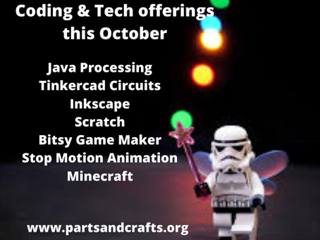 Tech & Coding Offerings this October at Parts and Crafts