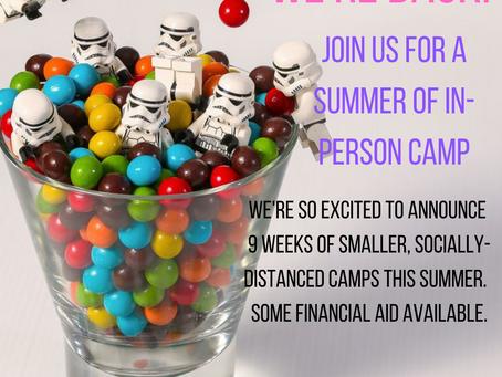 Summer 2021 Camp Registration is open!