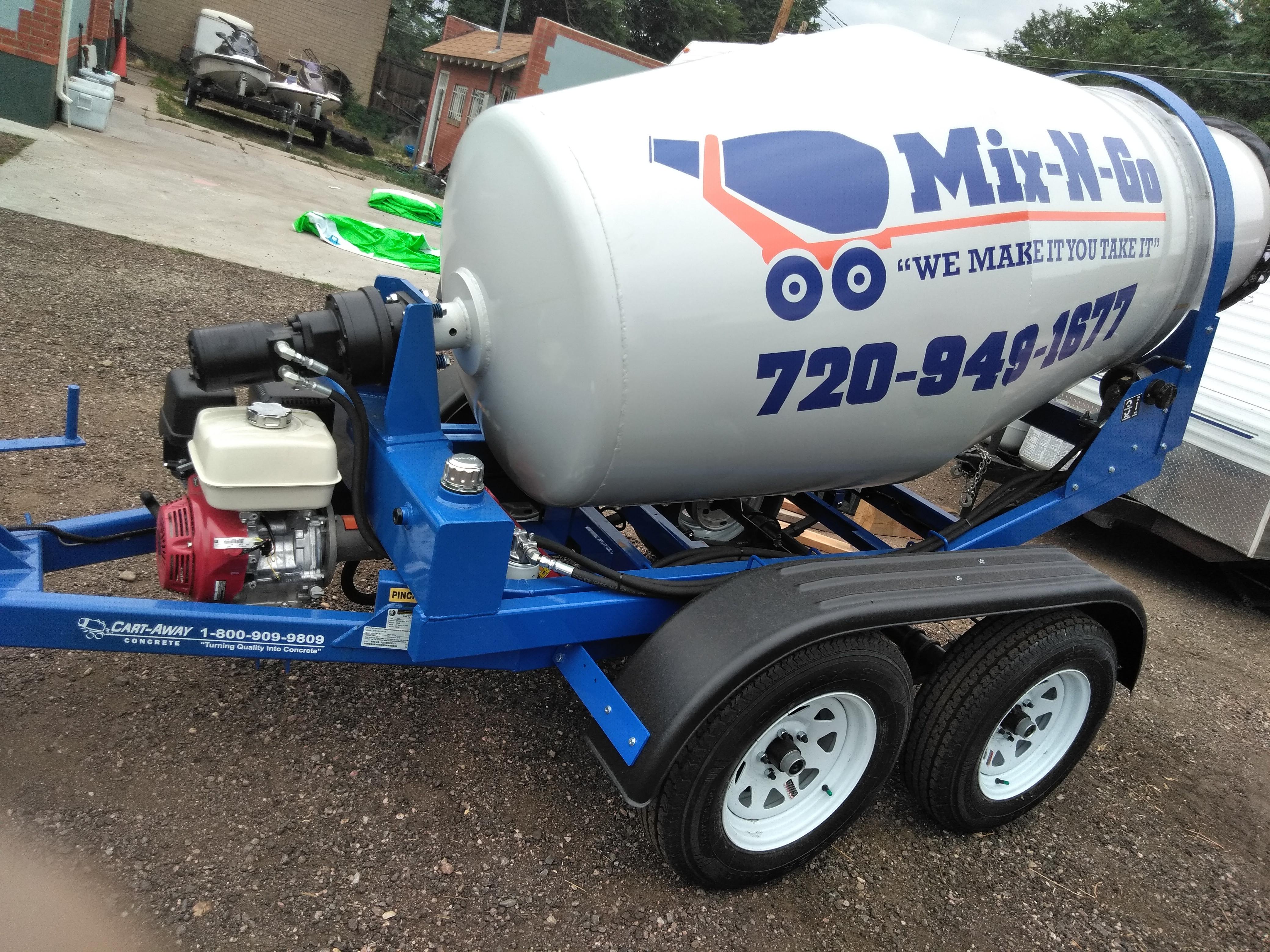 1/4 Yard - Concrete & trailer