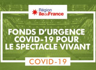 La région Ile-de-France débloque 10M€ pour le spectacle vivant spécial Coronavirus Covid-19
