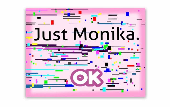 Just Monika Sticker (Doki Doki Literature Club)