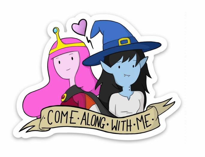 Bubblegum & Marceline Sticker (Adventure Time)