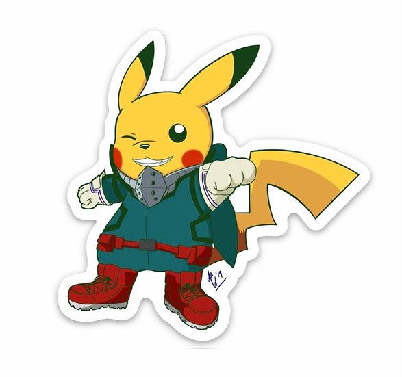 Deku Pikachu Sticker (Pokémon/My Hero Academia)