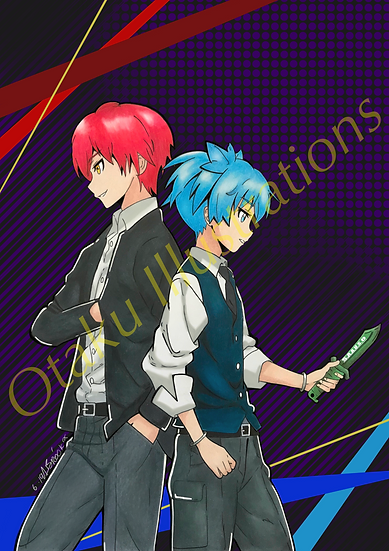 Nagisa & Karma Digital Download (Assassination Classroom)