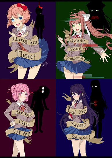 Doki Doki Literature Club Character Prints