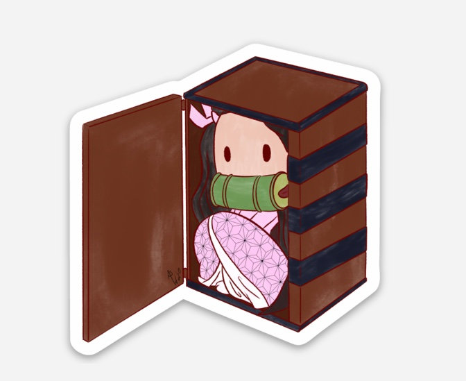 Nezuko Sticker (Demon Slayer)
