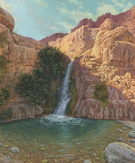 """""""David's Refuge"""" Biblical Landscape Giclee"""
