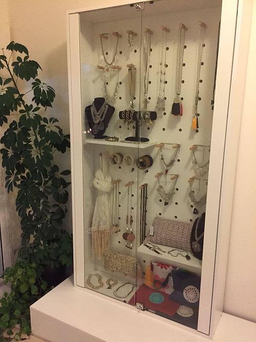 Mueble vitrina exhibidor bijou y accesorios
