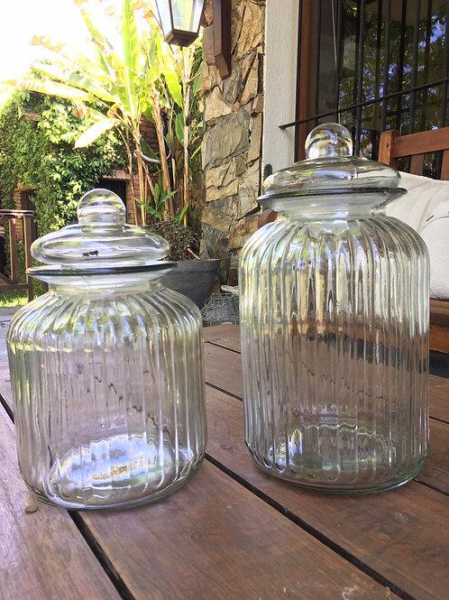 Juego bollones de vidrio