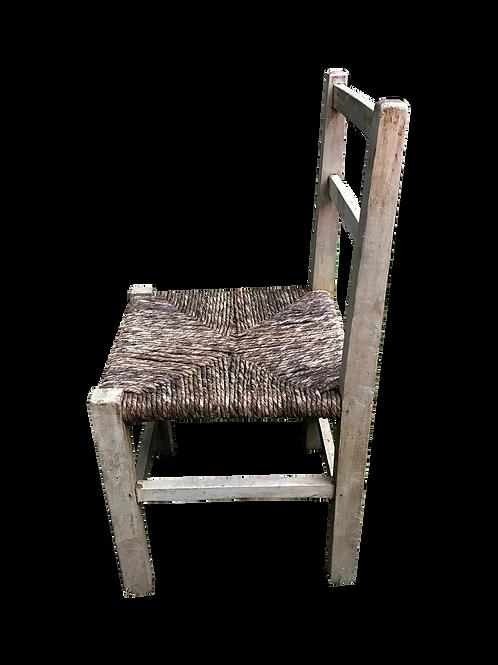 Silla madera y asiento totora
