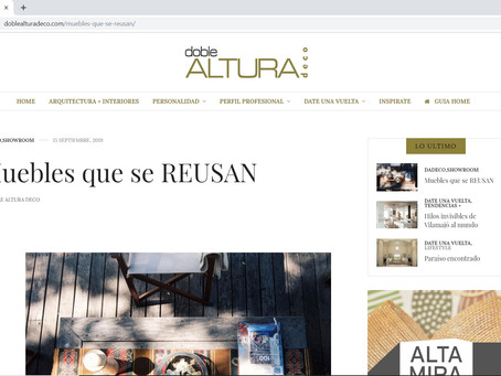 Nota en revista Doble Altura Deco
