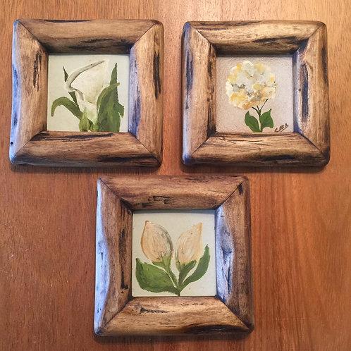 Set 3 cuadritos flores