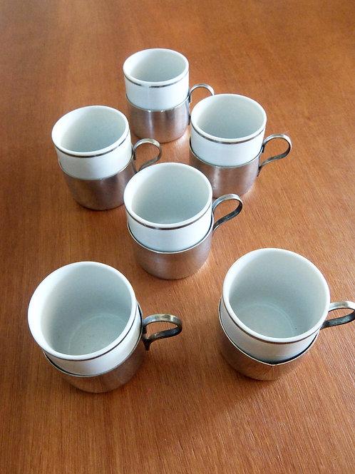 Juego de 6 tazas de café + caja