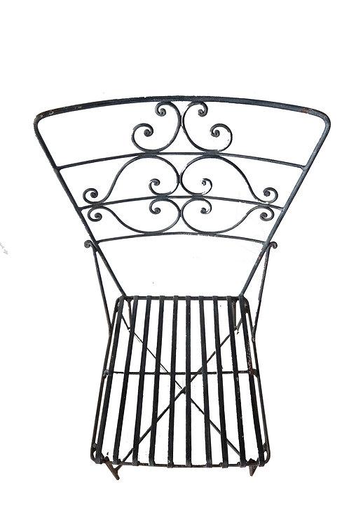 Juego 2 sillas en hierro de exterior