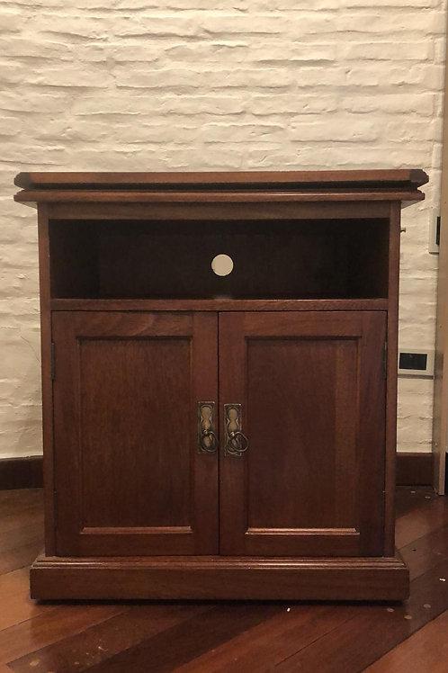 Mueble para tv en madera. Tapa superior giratoria