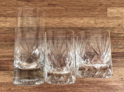 Vasos de cristal grandes x6