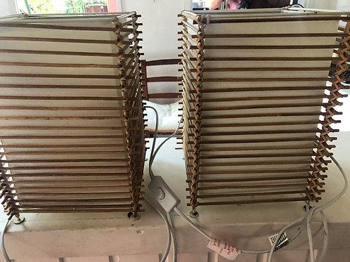 Lámparas de mesa varillas madera