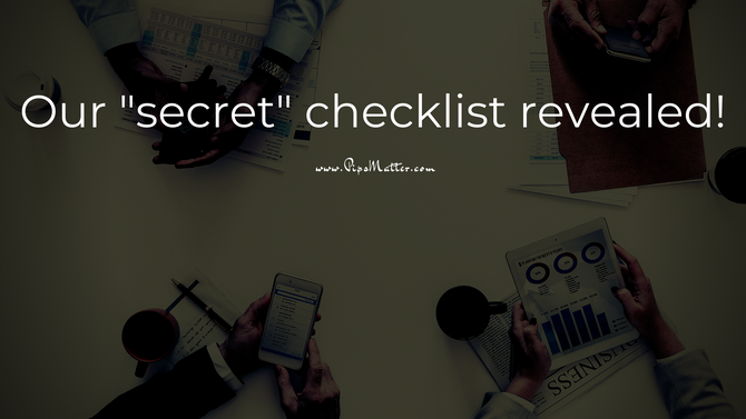 """Our """"secret"""" trading checklist is revealed today in a LIVE workshop!"""