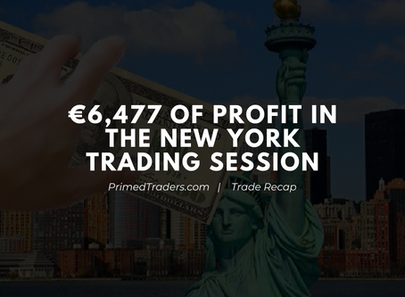 Earning over €6,000 in the New York Session on Friday the 13th