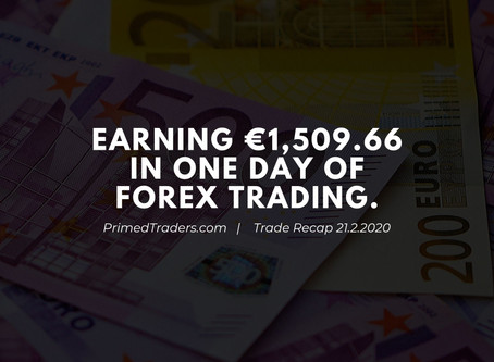 Earning €1,509.66 in one day of forex trading [Trade Recap]