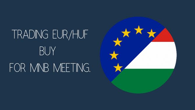 Buying EURHUF for MNB (Hungarian Central Bank) meeting