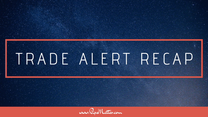 Trade Alert Recap [July 8-12]