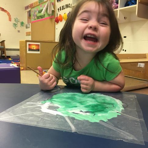 Painting At Preschool