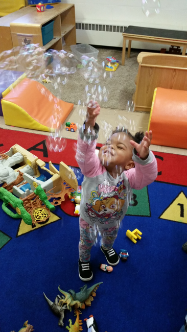 Bubbles At Daycare