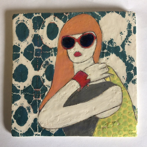 Framed Ceramic tile - Manequin