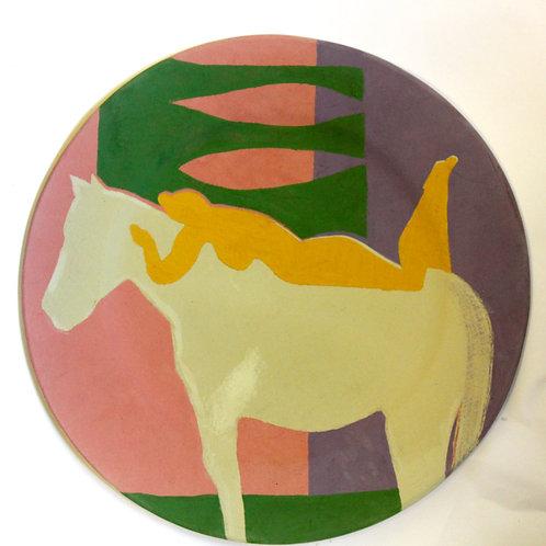 Orange Nude ceramic plate - Man & Beast series