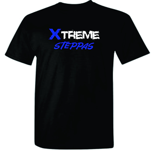 """Xtreme Steppas"" Black/Royal Blue Mens Tee"