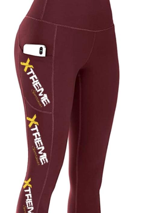 """Xtreme"" Capri Leggings - Burgandy"