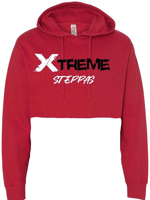 """""""Xtreme Steppas"""" Crop Top Hoodie - Red"""