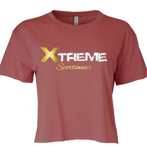 """Xtreme Sportswear"" Mauve Crop Top"