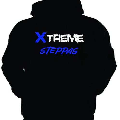 """Xtreme Steppas"" Hoodie - Black/Blue"