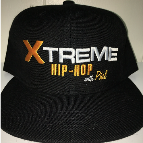 """""""Xtreme Hip Hop"""" Black and Yellow Snapback Hat"""