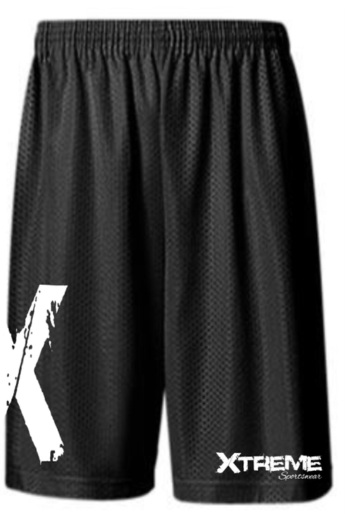 """""""X"""" Black and White Jersey Shorts"""