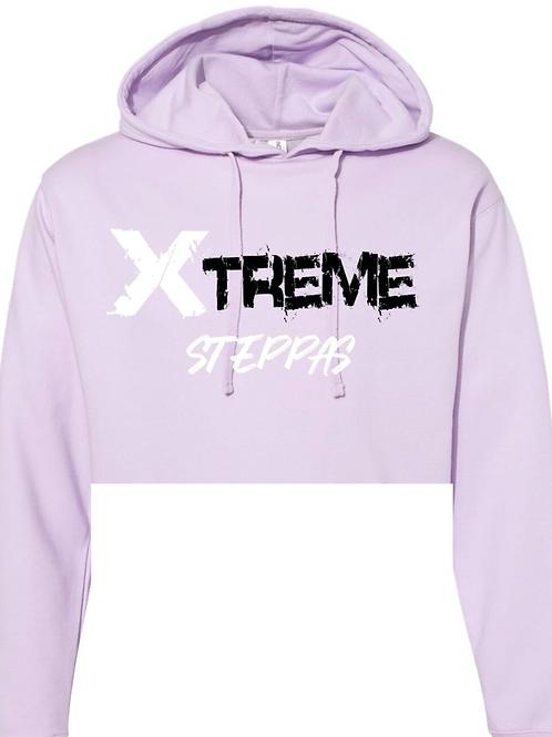 """""""Xtreme Steppas"""" Crop Top Hoodie -Purple"""