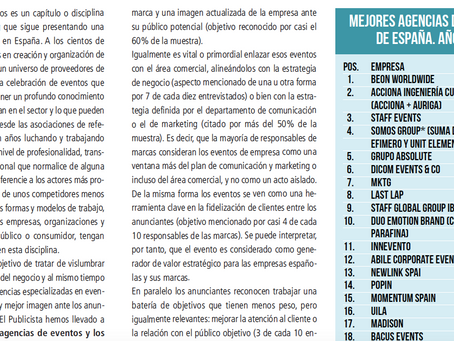 #12 en el ranking de las mejores agencias de eventos corporativos de España en 2021